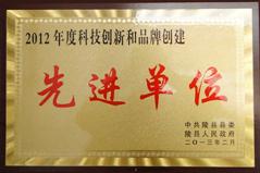 2012年度科技创新和品牌建设先进单位